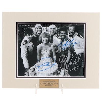 "MacLeod, Whelan, & Lange Signed ""Love Boat"" Television Sitcom Photo Print, COA"
