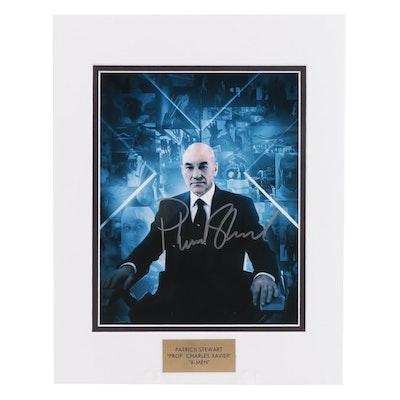 "Patrick Stewart ""Prof. Charles Xavier"" Signed ""X-Men"" Movie Photo Print, COA"
