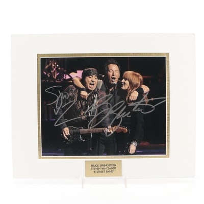 "Bruce Springsteen and Steven Van Zandt Signed ""E Street Band"" Photo Print"
