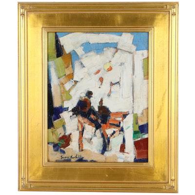 "Serguei Novitchkov Oil Painting ""Date In The Park"""