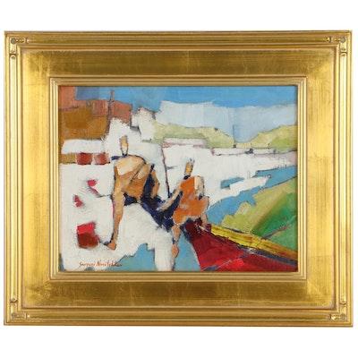 """Serguei Novitchkov Oil Painting """"The Journey Begins"""""""