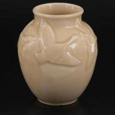 Rookwood Pottery High Gloss Flying Geese Ceramic Vase, 1946