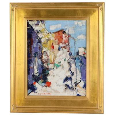 """Serguei Novitchkov Oil Painting """"Stray Cat"""""""