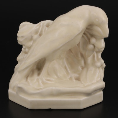 """Wm. Purcell McDonald for Rookwood Pottery """"Rook"""" Ceramic Bookend, 1930"""