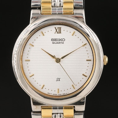 Two Tone Seiko SX Quartz Wristwatch