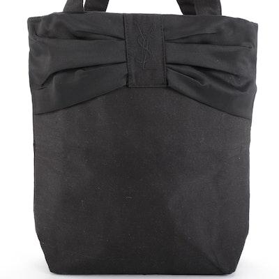 Yves Saint Laurent Parfums Promotional Tote Bag in Black Canvas