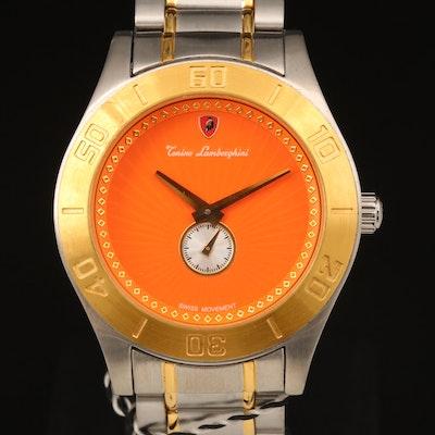 Tonino Lamborghini Swiss 18K Gold Plate and Stainless Steel Wristwatch