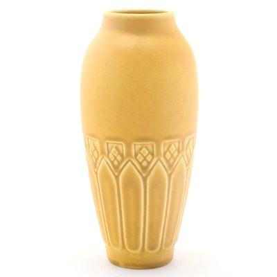 Rookwood Pottery Art Deco Matte Yellow Glaze Ceramic Vase, 1926