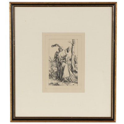 """Lithograph After Albrecht Dürer """"The Promenade"""""""