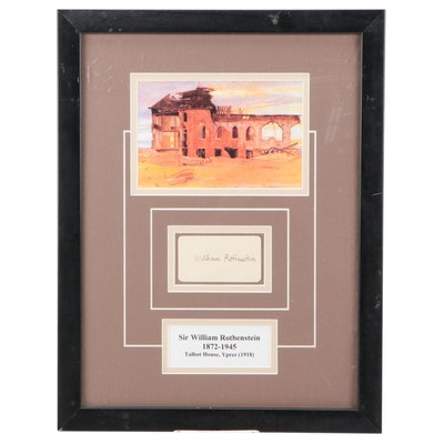 Sir William Rothenstein Signature and Photographic Reprint, Framed with Matte