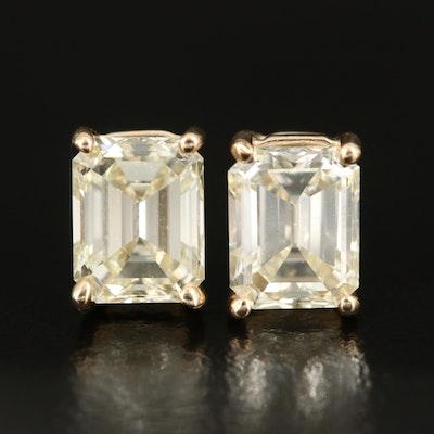 14K 2.05 CTW Diamond Solitaire Earrings