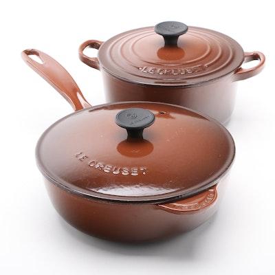 Le Creuset Enameled Cast Iron 2-Quart Dutch Oven and Saucier Pan