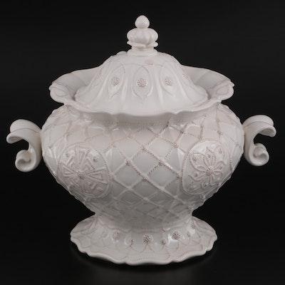"Juliska ""Jardins du Monde"" Whitewash Porcelain Tureen"