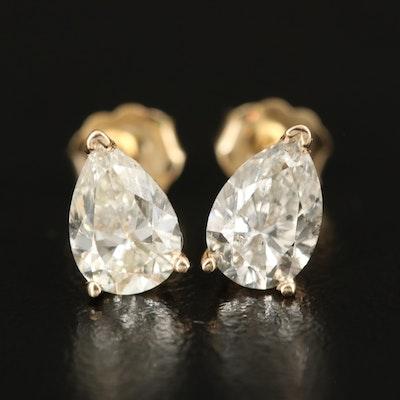 14K 2.07 CTW Diamond Stud Earrings