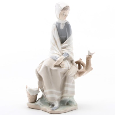 "Lladró ""Shepherdess"" Porcelain Figurine, 1971–1974"