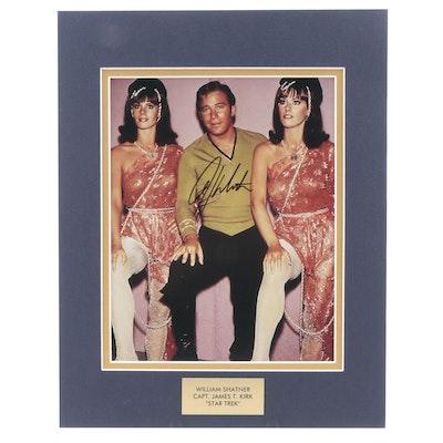 """William Shatner """"Capt. James T. Kirk"""" Signed """"Star Trek"""" TV Photo Print, COA"""