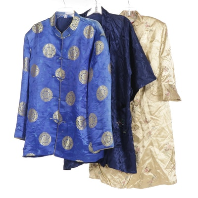 Men's, Women's and Unisex Chinese Satin Jackets, Mid 20th Century