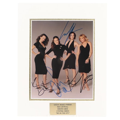 """Cast of """"Sex In The City"""" Signed Television and Movie Photo Print, COA"""