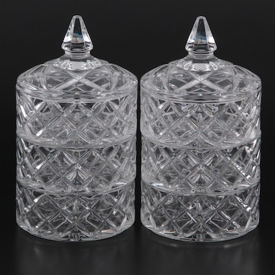Marquis by Waterford Crystal Lidded Stacking Candy Dishes