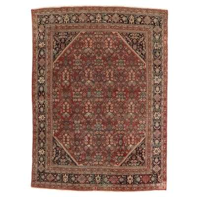 9'1 x 12'4 Hand-Knotted Persian Room Sized Rug