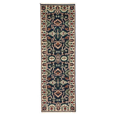 2'7 x 8'1 Hand-Knotted Indo-Persian Mahal Carpet Runner