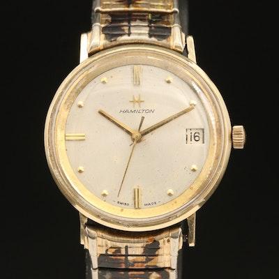 14K Hamilton Rare Date Wristwatch