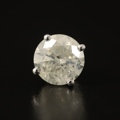 14K 1.03 CTW Diamond Single Stud Earring