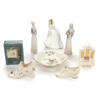 """Royal Doulton """"Barbara"""" with Lenox and Other Porcelain Figurines and Bowl"""