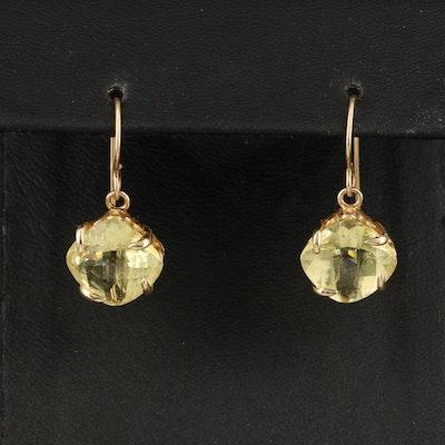 14K Citrine Drop Earrings