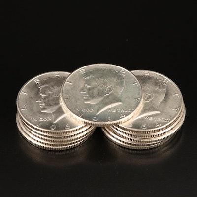 Eleven 1964 Kennedy Silver Half Dollars