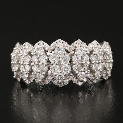 14K 1.02 CTW Diamond Navette Ring
