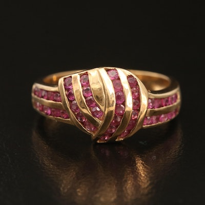 10K Ruby Knot Ring