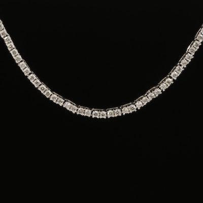 14K 3.37 CTW Diamond Line Necklace