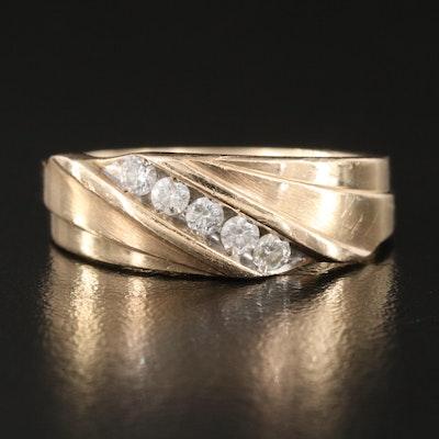 10K 0.25 CTW Diamond Tapered Band