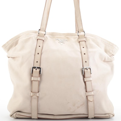 Prada Shoulder Tote Bag in Soft Nappa Leather