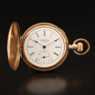 1890's  American Waltham 14K Multi Colored Hunting Case Pocket Watch