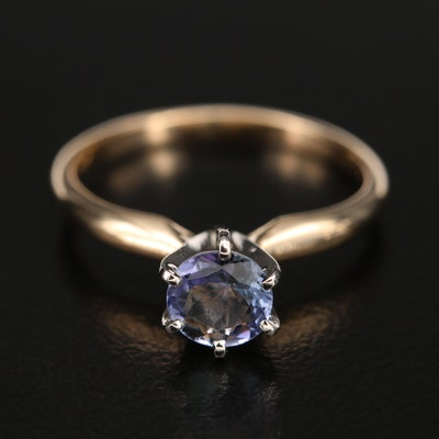 14K Tanzanite Solitaire Ring