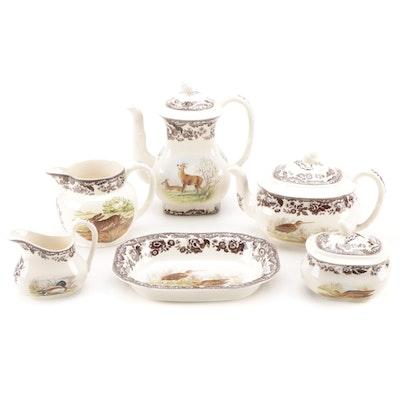 "Spode ""Woodland"" Ceramic Serveware, Late 20th Century"