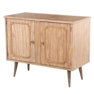 Mid Century Modern Oak-Grained Laminate Side Cabinet