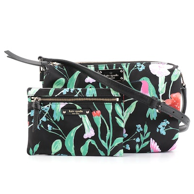 Kate Spade Madelyn Crossbody Bag and Small Drewe in Hummingbird Floral Print
