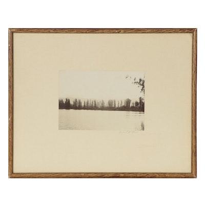 Richard W. Moore Silver Gelatin Print of Lake Scene, Late 20th Century