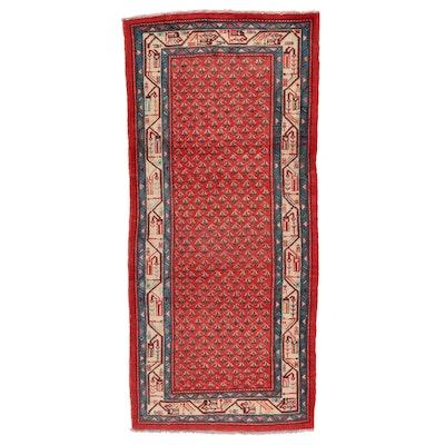 3'11 x 9'2 Hand-Knotted Persian Mir Sarouk Area Rug