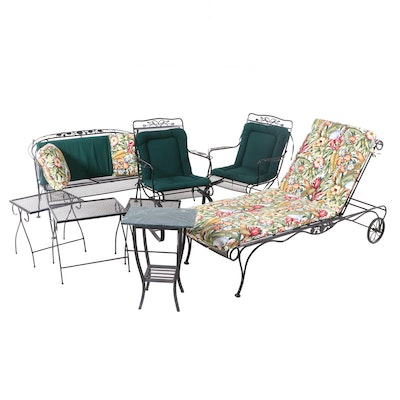 Patio Metal Mesh Chaise Lounge, Settee, Armchairs and Other Tables