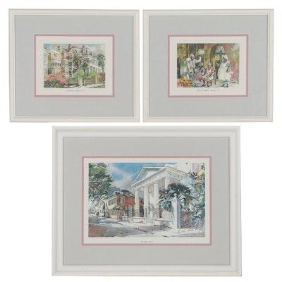 Virginia Fouche Bolton Offset Lithographs of Charleston, South Carolina