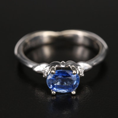 14K Kyanite and Diamond Ring with GIA Report