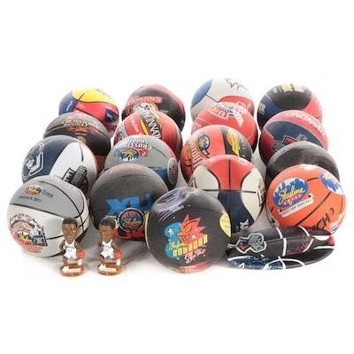 1995-2019 Skyline Chili Crosstown Shootout Basketballs and Posey Bobbleheads