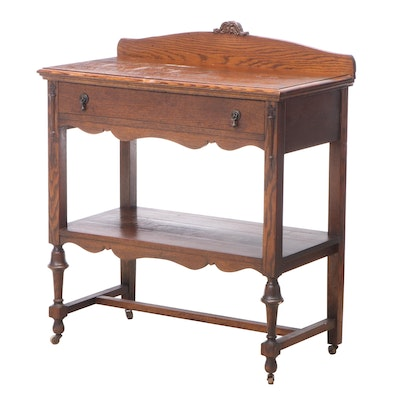 Ideal Table Company Jacobean Revival Oak Two-Tier Buffet, Early 20th Century