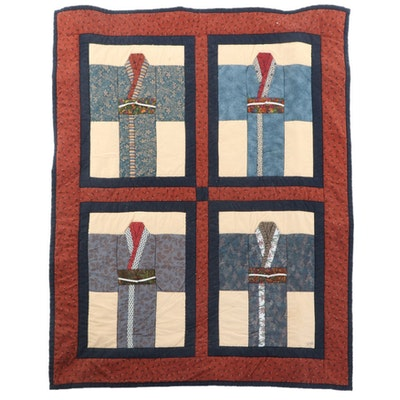 "Jenny Moore ""Kimonos"" Quilt Wall Hanging, 1998"