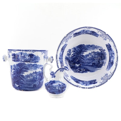 Bates, Brown-Westhead & Moore Blue and White Transferware