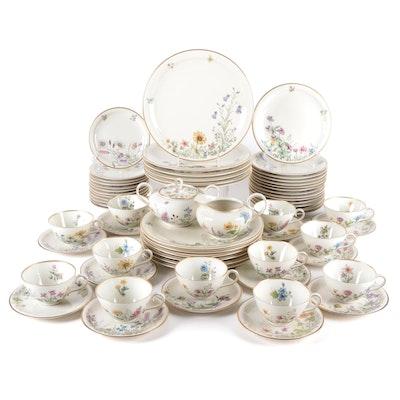 "Franconia-Krautheim ""Meadow Flowers"" Porcelain Tableware, Mid-20th Century"